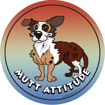 Hot Dog Mutt Attitude Magnet