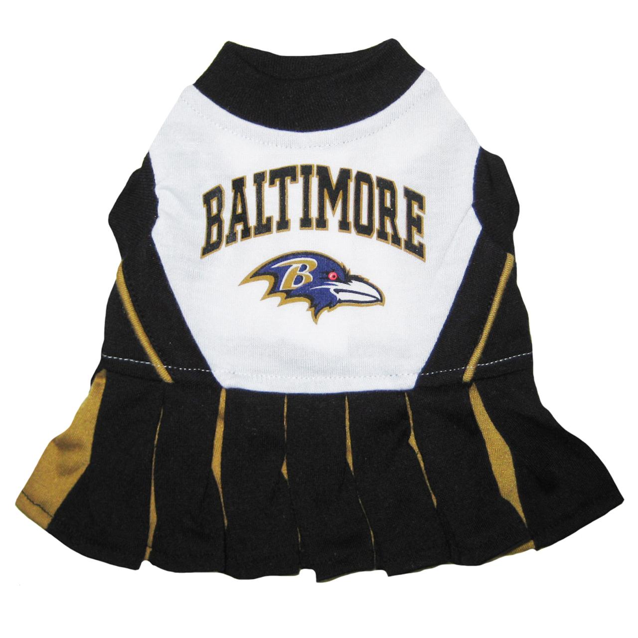 Hot Dog Baltimore Ravens NFL Football Pet Cheerleader Outfit