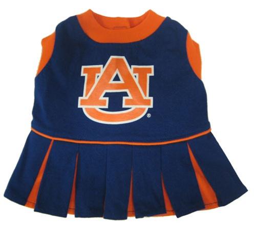 Hot Dog Auburn Football Pet Cheerleader Outfit