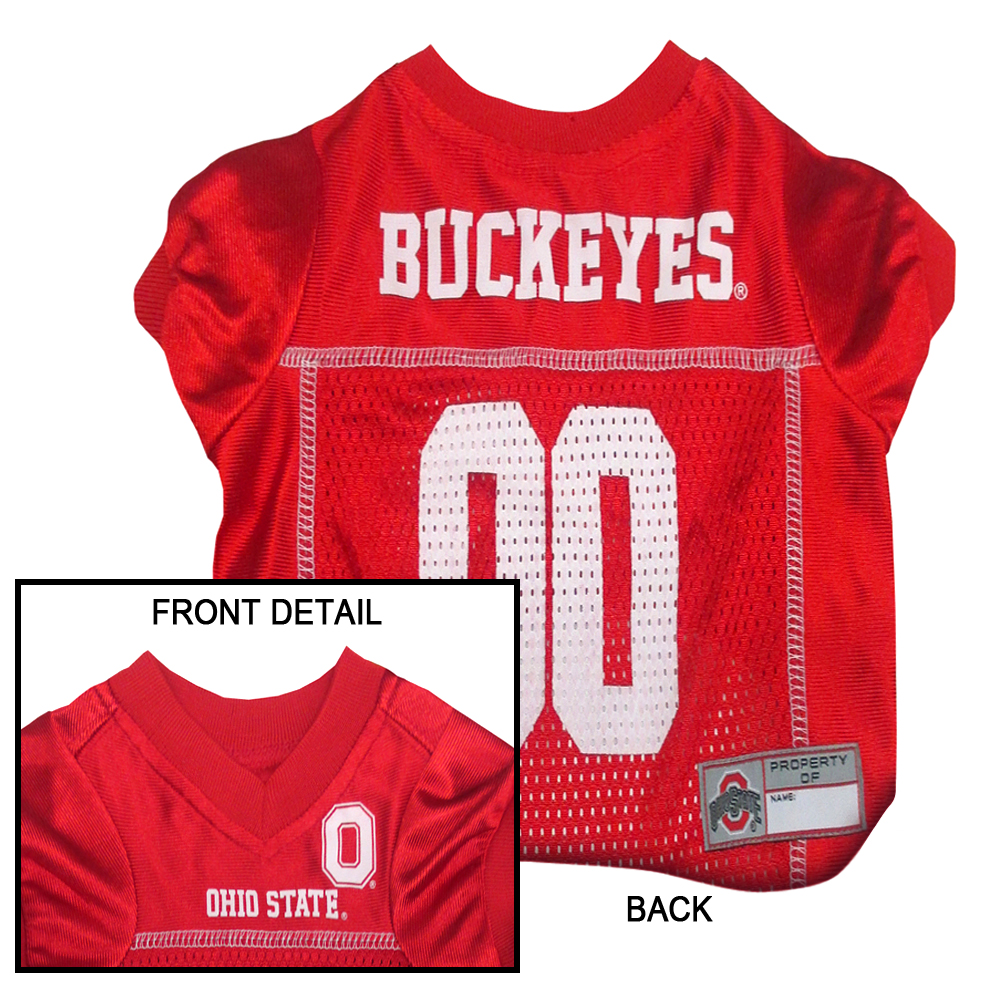 Ohio State Buckeyes Dog Jersey OH-4006-XS