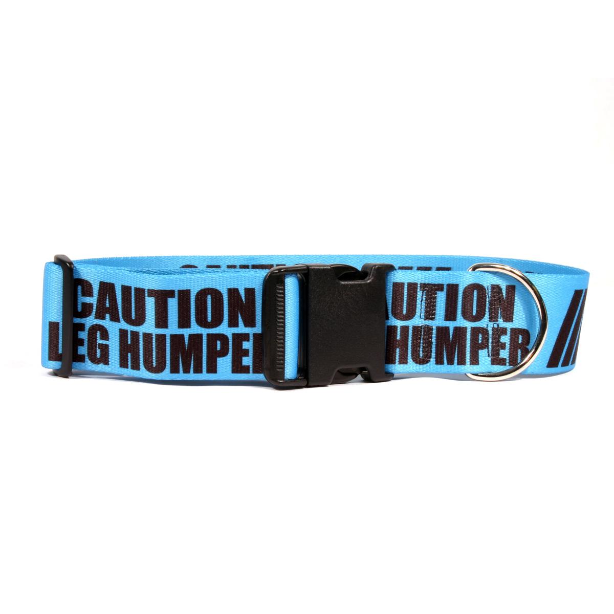 Yellow Dog 2 Inch - Caution Leg Humper Dog Collar