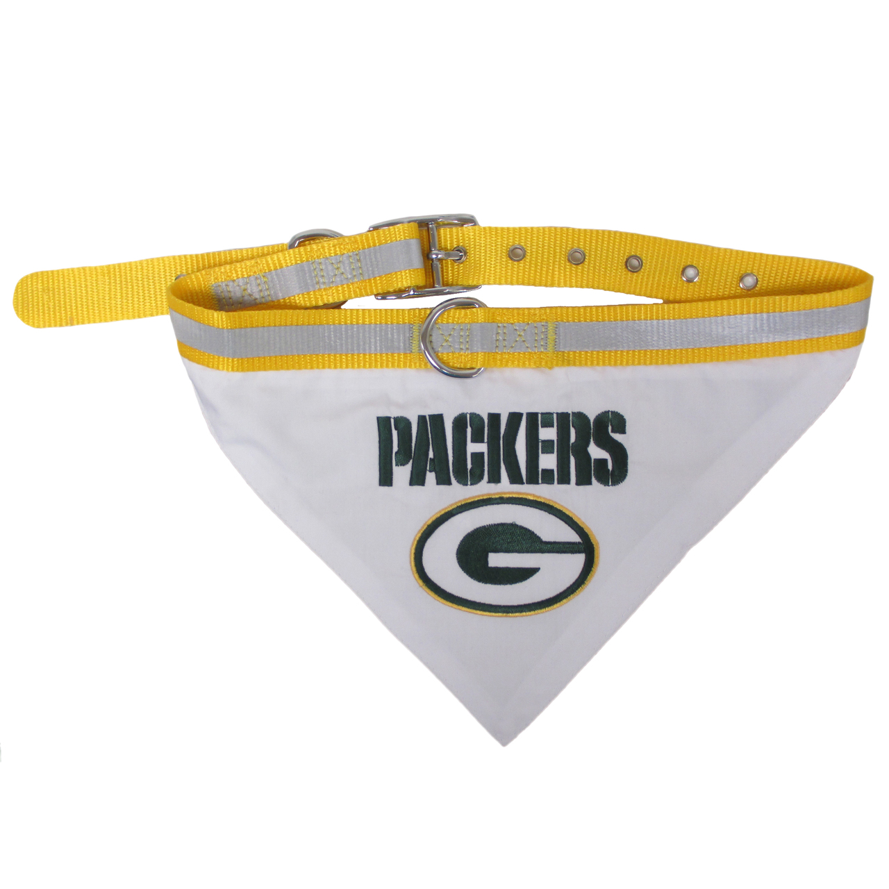 Hot Dog Green Bay Packers Bandana Dog Collar