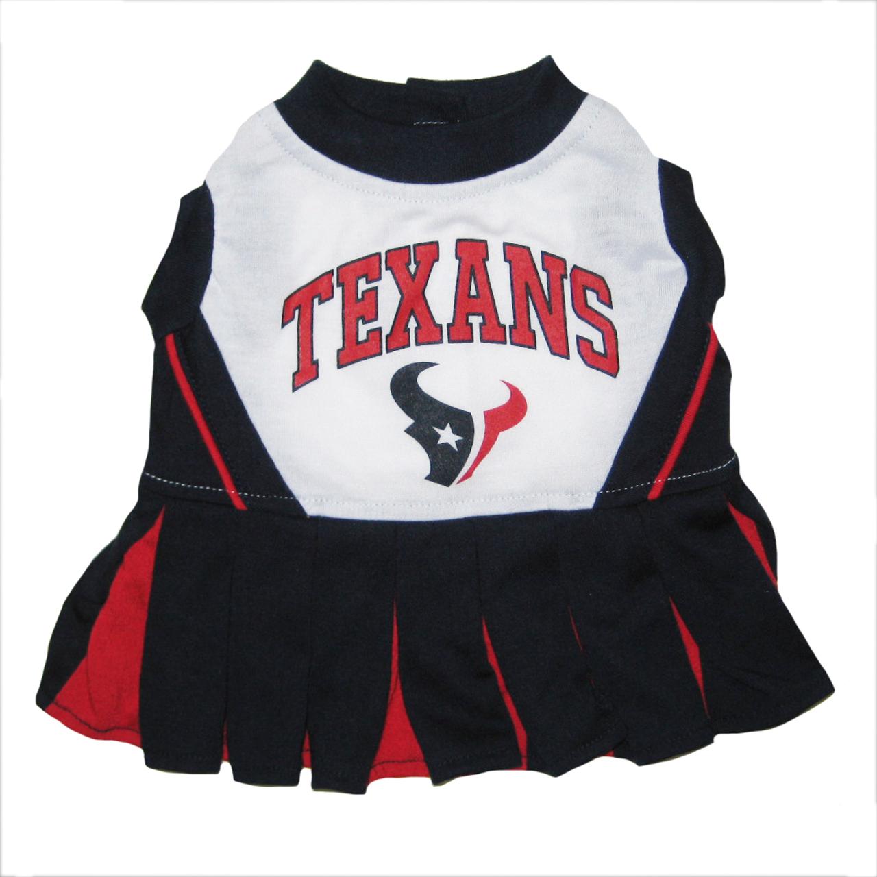 Hot Dog Houston Texans NFL Football Pet Cheerleader Outfit