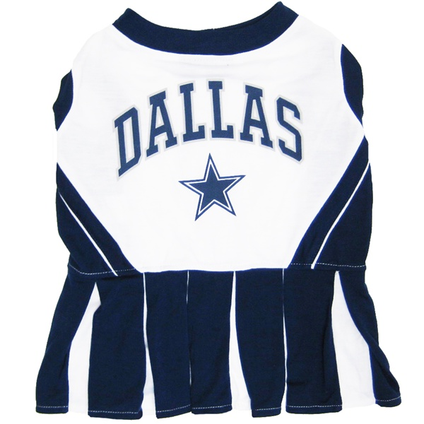Hot Dog Dallas Cowboys NFL Football Pet Cheerleader Outfit