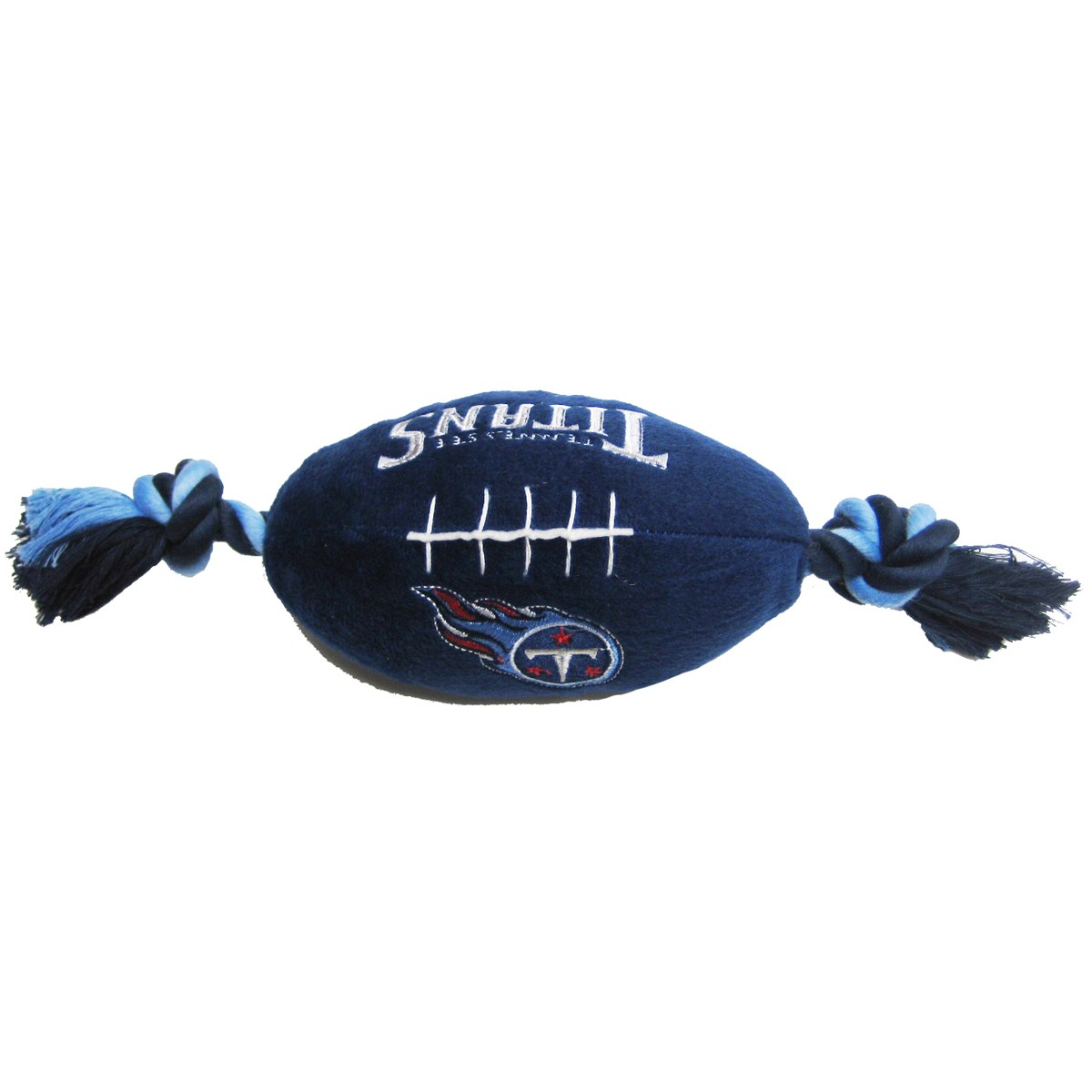 Hot Dog Tennessee Titans NFL Squeaker Football Dog Toy