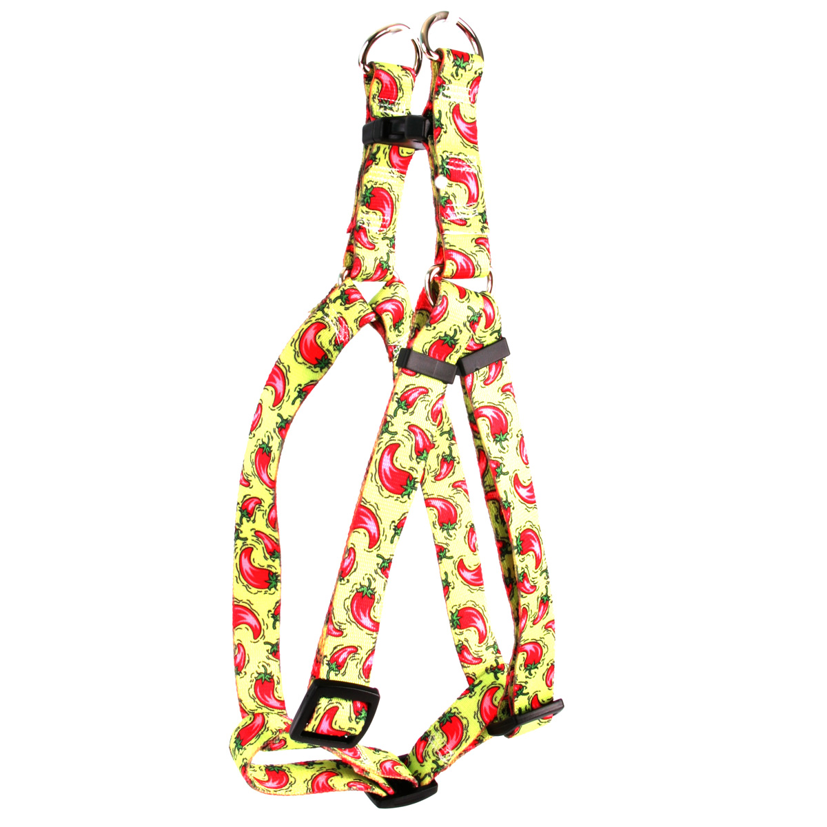 Yellow Dog Hot Peppers Step-In Dog Harness