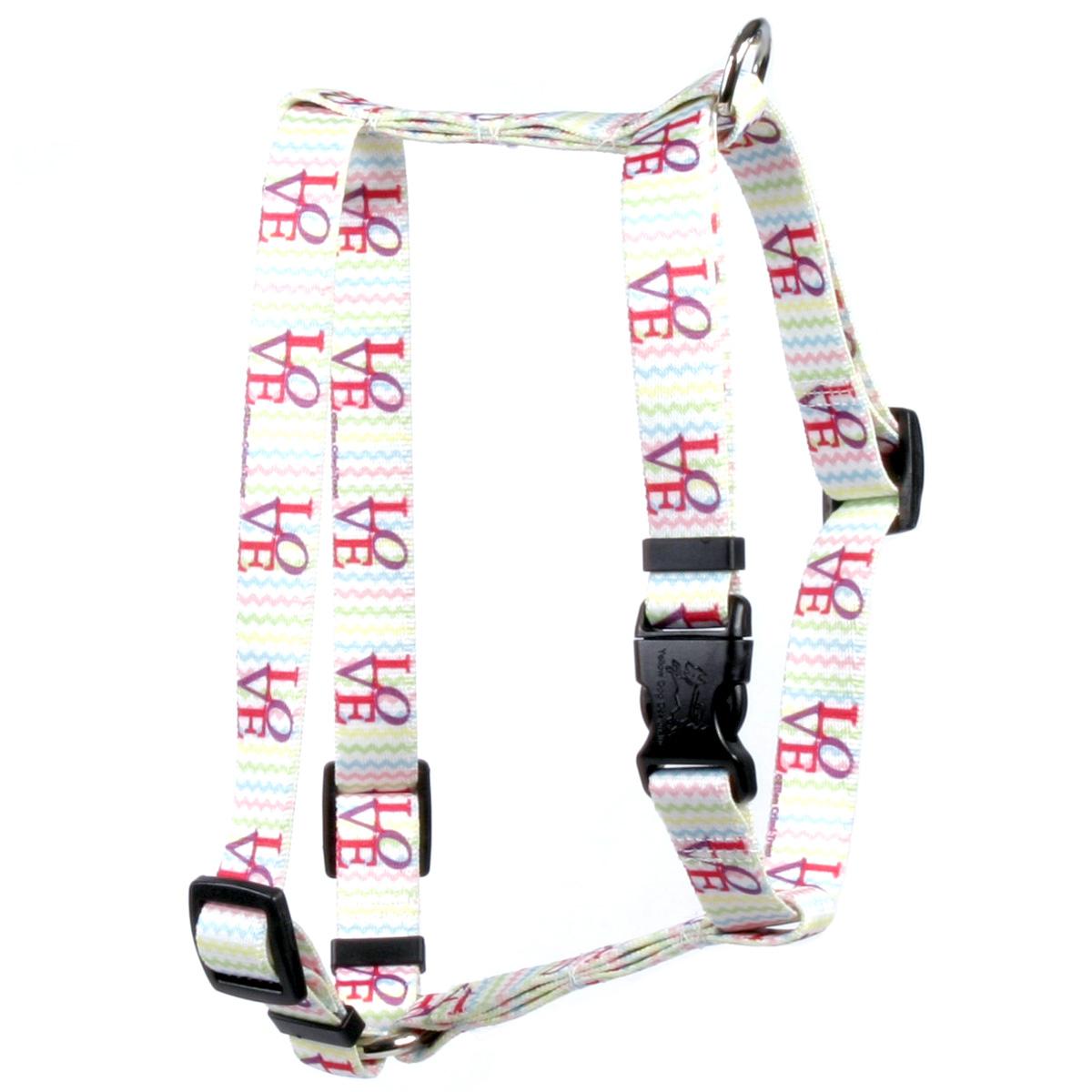 "Yellow Dog LOVE Roman Style ""H"" Dog Harness"