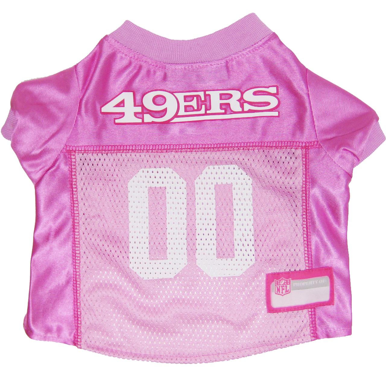 Hot Dog SF 49ers PINK NFL Football Pet/ Dog Jersey