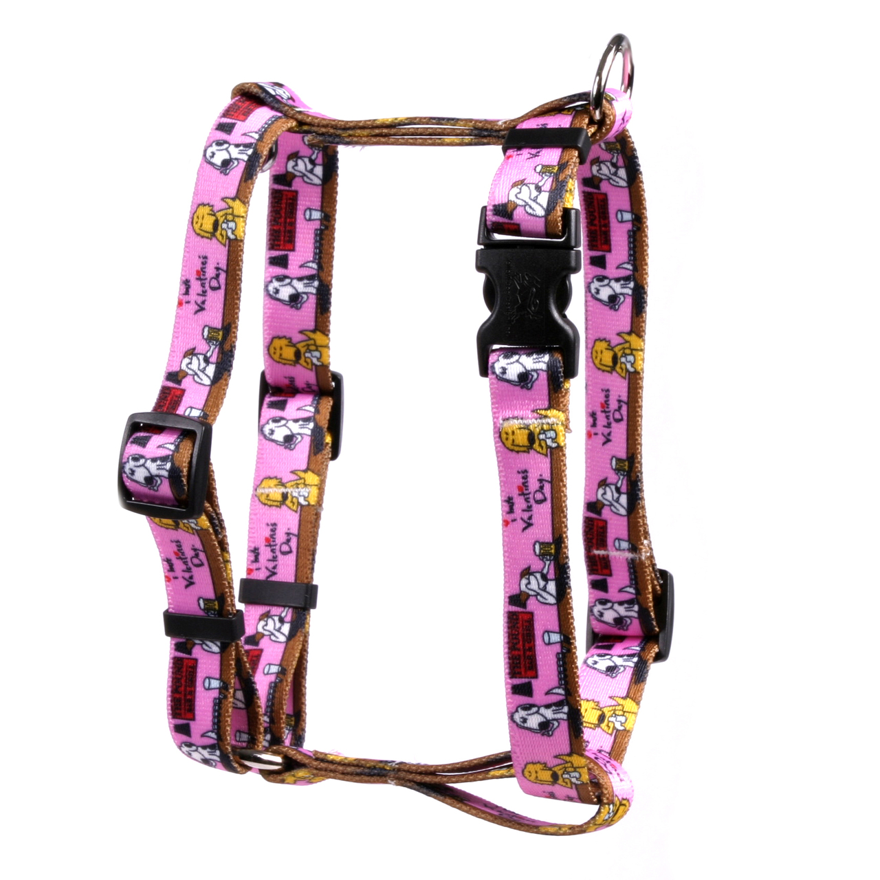 "I Hate Valentines Day Roman Style ""H"" Dog Harness IHV150"