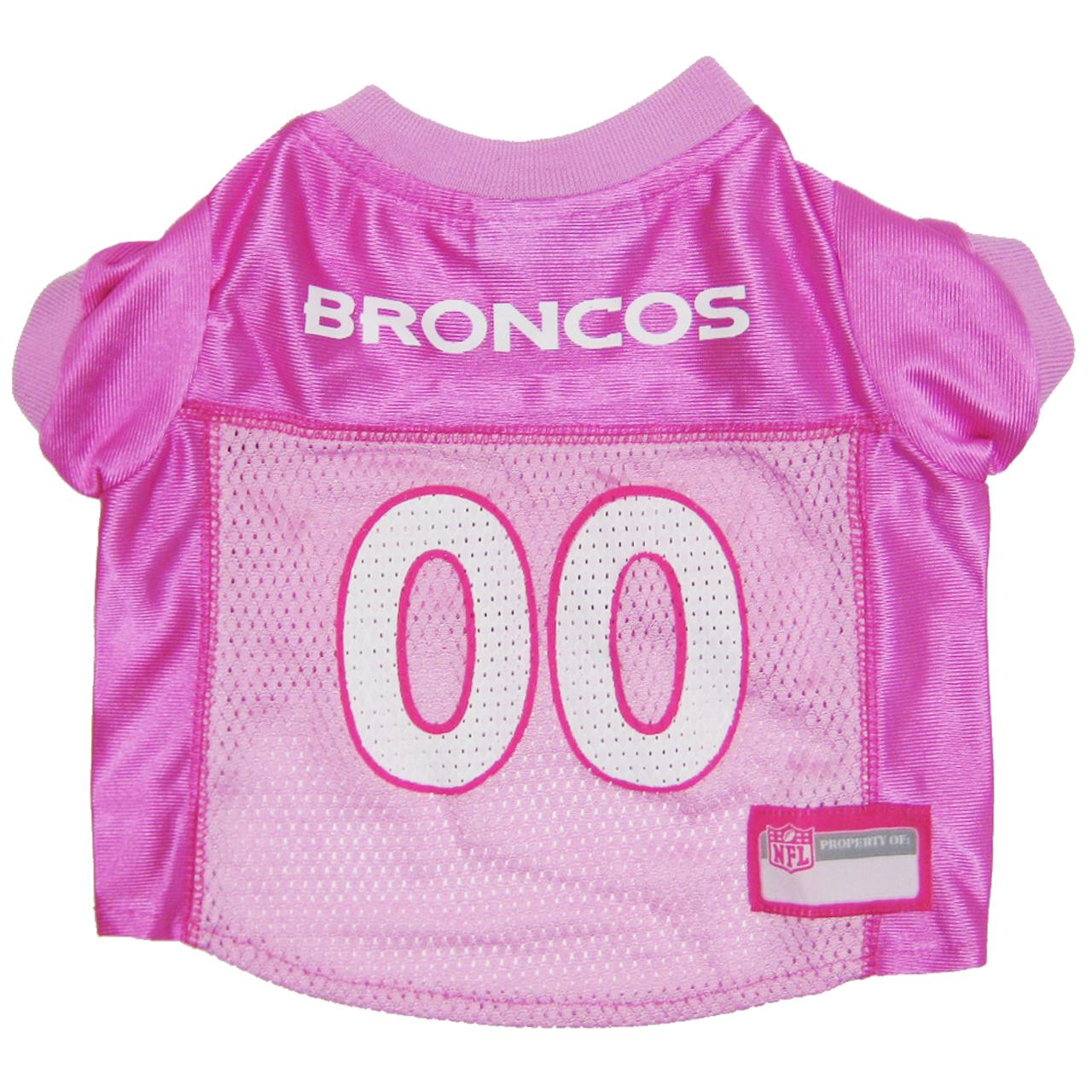 Hot Dog Denver Broncos PINK NFL Football Pet/ Dog Jersey