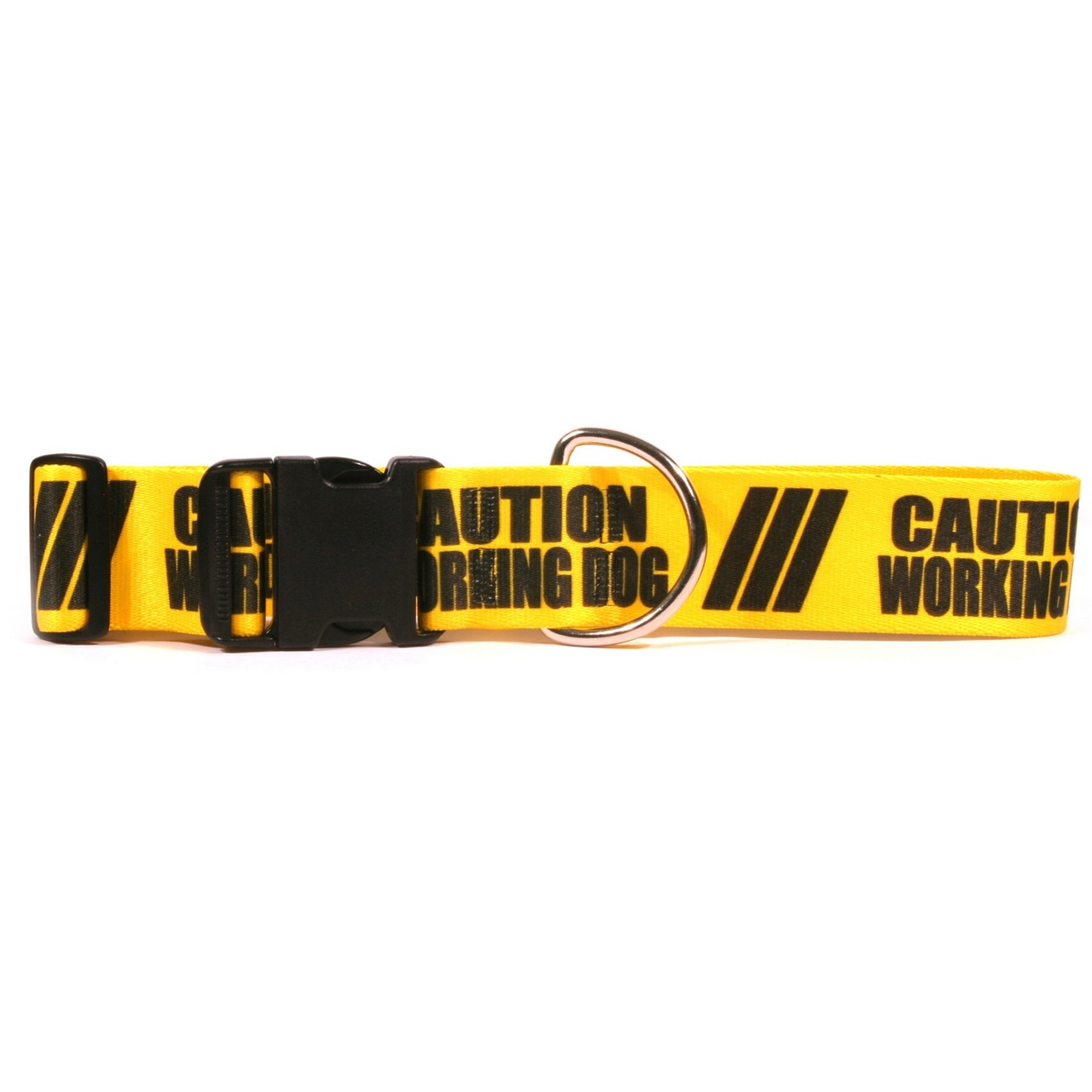 Yellow Dog 2 Inch - Caution Working Dog Dog Collar