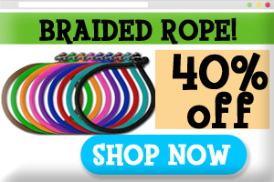 Braided Rope Dog Collars and leashes on sale