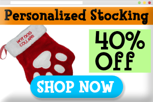 paw print christmas pet stocking