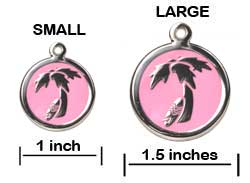 Island Palm Tree ID Tag - Product Sizing