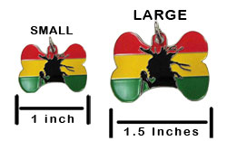 Rasta Pet ID Tag - Product Sizing