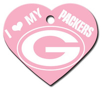 Green Bay Packers PINK Pet ID Tag - With Engraving