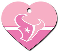 Houston Texans PINK Pet ID Tag - With Engraving