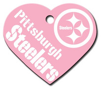 Pittsburgh Steelers PINK Pet ID Tag - With Engraving