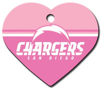 Los Angeles Chargers PINK Pet ID Tag - With Engraving
