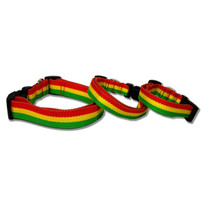 Rasta Stripe Dog Collar - 100% Organic Bamboo
