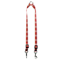 Tartan Red Coupler Dog Leash