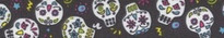 Sugar Skulls Black Coupler Dog Leash