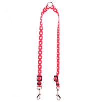 Strawberry Polka Dot Coupler Dog Leash