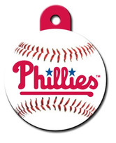 Philadelphia Phillies ROUND Engraved Dog ID Tag