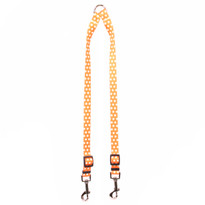 Orange Polka Dot Coupler Dog Leash