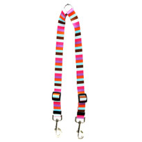 Multi-Stripe Coupler Dog Leash