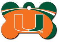 Miami Hurricanes Engraved Pet ID Tag