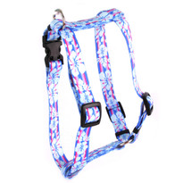 "Tropical Flowers Roman Style ""H"" Dog Harness"