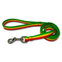 Rasta Stripe Dog LEASH - 100% Organic Bamboo