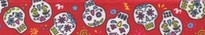 "Sugar Skulls Red Roman Style ""H"" Dog Harness"