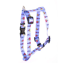 "Sailboats and Lighthouses Roman Style ""H"" Dog Harness"