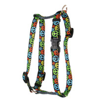 "Neon Peace Signs Roman Style ""H"" Dog Harness"