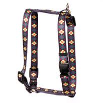 "Green Argyle Roman Style ""H"" Dog Harness"