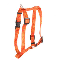 """Fall Leaves Roman Style """"H"""" Dog Harness"""
