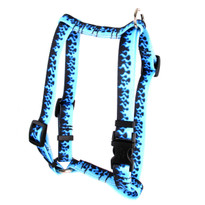 "Blue Flames Roman Style ""H"" Dog Harness"