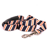 Team Spirit Navy, Orange and White EZ-Grip Dog Leash