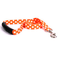Tangerine Polka Dot EZ-Grip Dog Leash