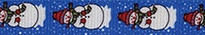 Snowman Print EZ-Grip Dog Leash