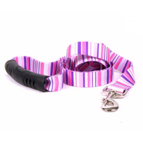 Pink Stripes EZ-Grip Dog Leash