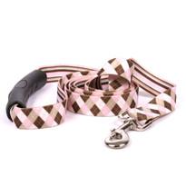 Pink and Brown Argyle EZ-Grip Dog Leash