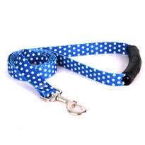 Navy Polka Dot EZ-Grip Dog Leash