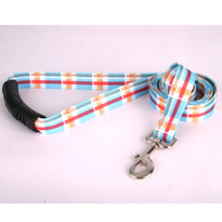 Madras Blue EZ-Grip Dog Leash