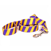 Team Spirit Gold and Purple Dog Leash