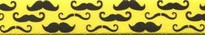 Mustaches On Yellow Waist Walker
