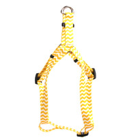 Chevron - Lemon Step-In Dog Harness