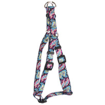 Black Paisley Step-In Dog Harness